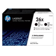 HP 26X Black Toner Cartridges (CF226XD), High Yield, 2/Pack