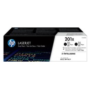 HP 201X Black Toner Cartridges (CF400XD), High Yield, 2/Pack