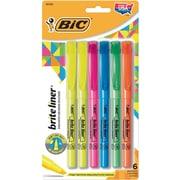 BIC® Brite Liner® Highlighters, Assorted, 6/Pack