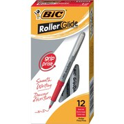 BIC® Grip Rollers, Fine Point, Red, Dozen