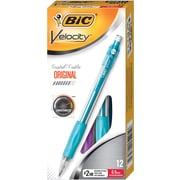 BIC® Velocity® Mechanical Pencils, Teal Barrel, 0.9mm, Dozen