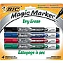 BIC® Magic Marker® Dry-Erase Markers, Pocket Style, Assorted