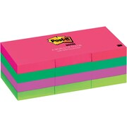 """Post-it® Notes, 1.5""""x 2"""", Cape Town Collection, 12 Pads/Pack (653AN)"""