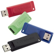 Verbatim 4PK Store n Go USB 2.0 Flash Drive Blue, Green, Red, Black