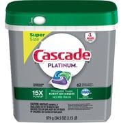 Cascade® Platinum™ ActionPacs™ Dishwasher Detergent, Fresh Scent, 62/Pack