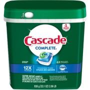 Cascade® Complete™ ActionPacs™ Dishwasher Detergent, Fresh Scent, 63/Pack