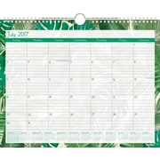 2017 2018 Staples 14 7/8 inch x11 7/8 inch Medium Academic Monthly Wall Calendar, 12 Months, Banana Leaf(50738... by