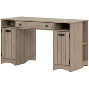 Artwork Craft Table with Storage, Rustic Oak