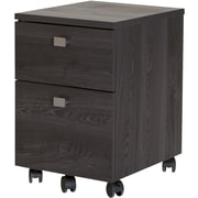 Interface 2-Drawer Mobile File Cabinet, Gray Oak