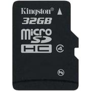 Kingston® SDC4/32GBSP Class 4 32GB microSDHC Flash Memory Card
