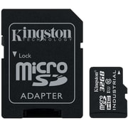 Kingston® Industrial SDCIT Class 10/UHS-I 32GB microSDHC Flash Memory Card