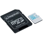 Kingston® SDCAC/16GB UHS-I Speed Class 3 16GB microSDHC Card with SD Adapter