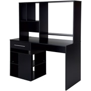 Annexe Home Office Computer Desk, Pure Black