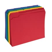 Staples® Colored File Folders w/ Reinforced Tabs, Letter, 5 Tab, 100/Box