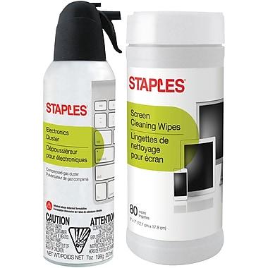 Staples Electronics Duster/Wipe Combo