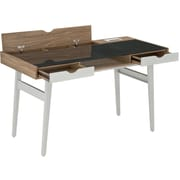 Techni Mobili Modern Matching Desk and Chair Set. Colors: White,Gray (RTA-2335-WAL)