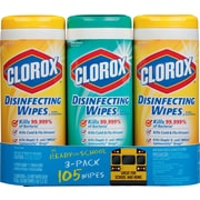 Clorox® Disinfecting Wipes Value Pack, Fresh Scent and Citrus Blend™, 105 Count