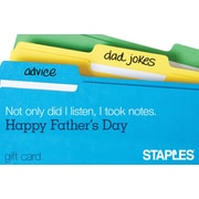 Staples File Folder Gift Card