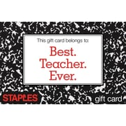 Staples Notebook Gift Card