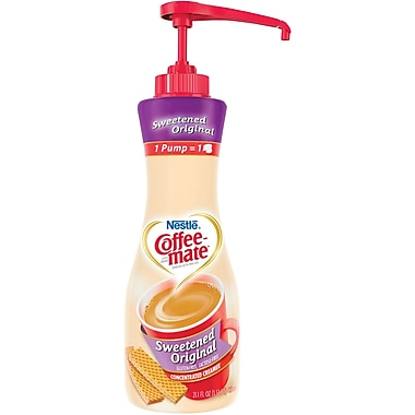 Nestlé® Coffee-mate® Coffee Creamer, Sweetened Original, 21.1oz liquid pump bottle, 1 bottle