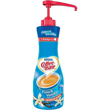 Nestlé® Coffee-mate® Coffee Creamer, French Vanilla, 21.1oz liquid pump bottle, 1 bottle