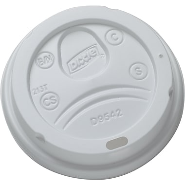 Dixie Dome Drink-Thru Lid for 10-16oz PerfecTouch Hot Cups and 12-20oz Dixie Paper Hot Cups, 50/Pack (9542500DX)