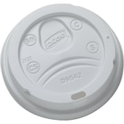 Dixie® Plastic Lids, 10-16 oz PerfecTouch Cups & 12-20 oz Paper Hot Cups, White, 500/Case (9542500DX)