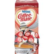 Nestlé® Coffee-mate® Coffee Creamer, Cinnamon Vanilla Créme, .375oz liquid creamer singles, 50 count