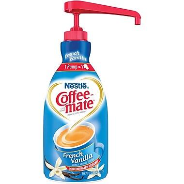 Nestlé® Coffee-mate® Coffee Creamer, French Vanilla, 1.5L liquid pump bottle, 1 bottle