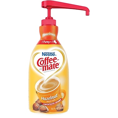 Nestlé® Coffee-mate® Coffee Creamer, Hazelnut, 1.5L liquid pump bottle, 1 bottle