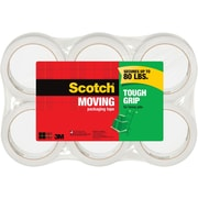 "Scotch® Tough Grip Moving Packaging Tape, 1.88"" x 43.7 yd., 6 Rolls/Pack"