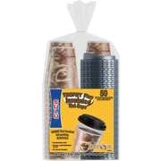SOLO® Trophy® Bistro™ Foam Hot Cups with Lids, 12 oz., 50/Pack