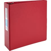 """3"""" Staples® Standard Binder with D-Rings, Red"""