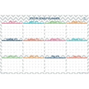 2017-2018 Dabney Lee for Blue Sky 36x24 Laminated Wall Planner, Ollie (102411)
