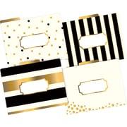 Barker Creek 24k Gold Fashion File Folders, letter size, 1/3 cut, multi-design set, 12/Pack