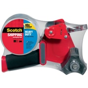 """Scotch® 1.88"""" x 54.6 yds Heavy Duty Shipping Packaging Tape with Dispenser, Clear, 1 Roll (3850-ST)"""