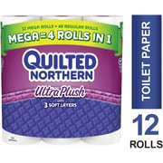 Quilted Northern Ultra Plush® Toilet Paper, 12 Mega Rolls, Bath Tissue