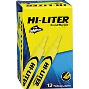 Avery® Desk Style Hi-Liter, Chisel Tip, Fluorescent Yellow, Dozen