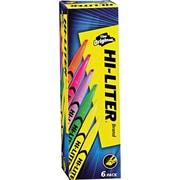 HI-LITER  Pen Style Highlighter, Chisel Tip, Assorted, 6/Set