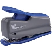 "Staples® One-Touch® 1/4"" Strip Mini Stapler, Fastening Capacity 12 Sheets, Blue/Gray"