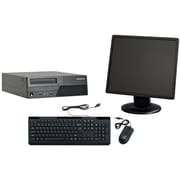 Refurbished Lenovo M58 SFF Desktop BUNDLED with 19in LCD Monitor Intel Core 2 Duo 3.0Ghz 4GB RAM 250GB HDD Windows 10 Home