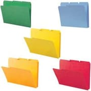 Smead® Colored Interior File Folders, Letter, Assorted, 100/Box
