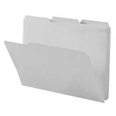 Smead Colored Interior File Folders, Letter, Gray, 100/Box
