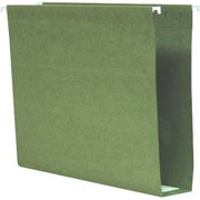 Smead® 100% Recycled Box-Bottom Hanging File Folders, Letter, 2 Capacity, Standard Green, 25/Box