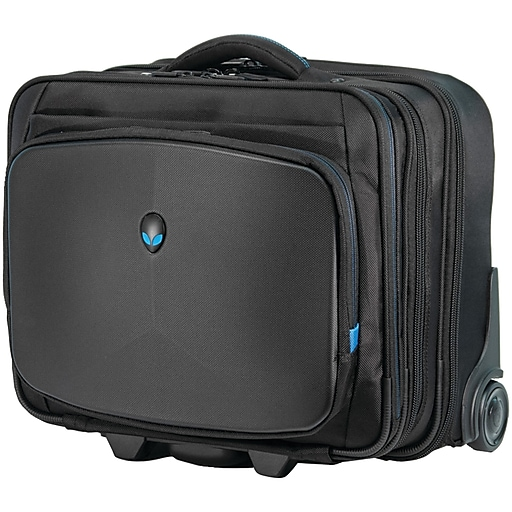 Alienware Mobile Edge Laptop Rolling Briefcase, Black Fabric (AWVRC1)