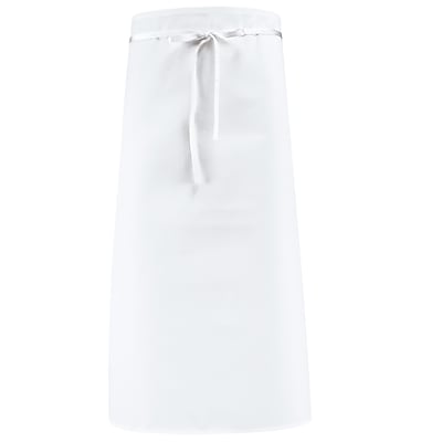 Chef Designs Blended Bar Apron Without Pouch Pockets White