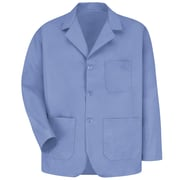 Red Kap® Long-Sleeve Lapel Counter Coat, Light Blue, 3XL