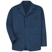 Red Kap® Long-Sleeve Lapel Counter Coat, Navy, Large