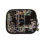 New York City Subwayline Map Neoprene iPad Sleeves, Black