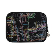 "New York City Subwayline Map Neoprene Sleeve for 13.9"" Laptops, Black"